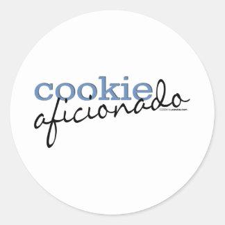 Aficionado de la galleta etiqueta redonda