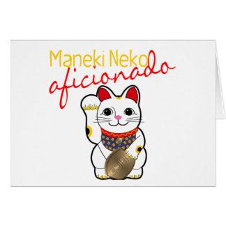 Aficionado de Maneki Neko Tarjeta Pequeña