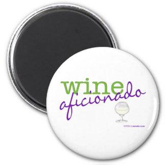 Aficionado del vino imán de frigorífico