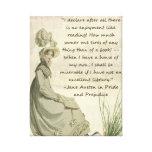 Aficionados a los libros de Austen Impresión En Lienzo Estirada