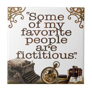 Aficionados a los libros/escritores y autores azulejo cuadrado pequeño