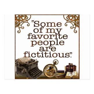 Aficionados a los libros/escritores y autores tarjeta postal
