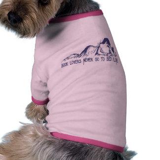 Aficionados a los libros camisetas de perrito