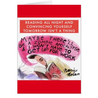Aficionados a los libros tarjeta de felicitación