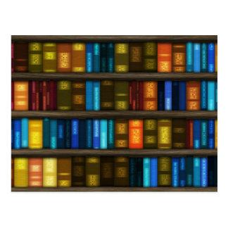 Aficionados a los libros y libros coloridos de los tarjeta postal