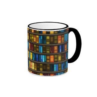 Aficionados a los libros y libros coloridos de los taza