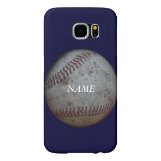Aficionados al béisbol personalizados fundas samsung galaxy s6