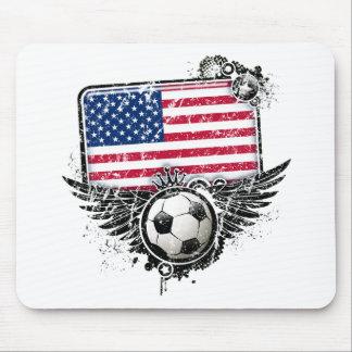 Aficionados al fútbol los E E U U Tapete De Ratón