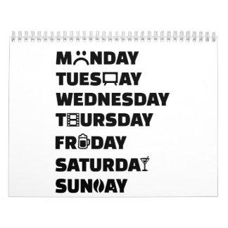 Aficiones del planificador de la semana para hacer calendario