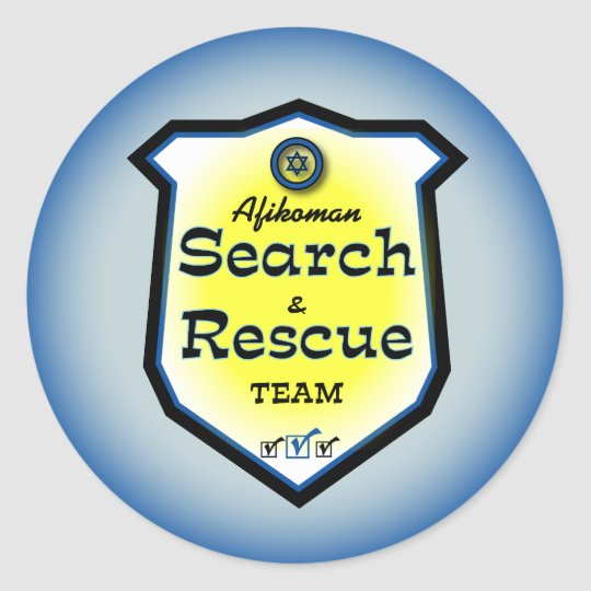 Afikoman Search & Rescue Team Classic Round Sticker
