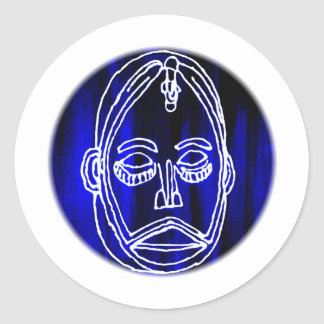 Afikpo mask classic round sticker