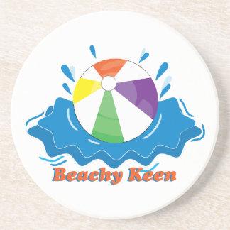 Afilado con playas posavasos personalizados