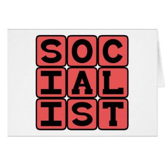 Afiliación socialista, política tarjeta de felicitación