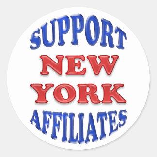 Afiliados de Nueva York de la ayuda Pegatina Redonda
