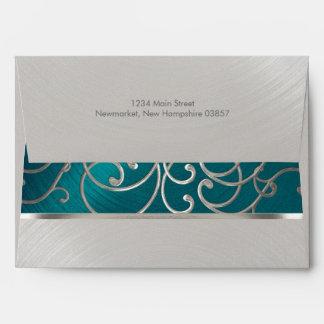 Afiligranado azul y de plata del trullo elegante sobre