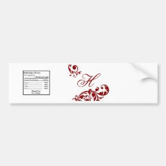 Afiligranado floral del rojo carmesí de la etiquet pegatina para auto