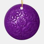 Afiligranado - púrpura adorno para reyes