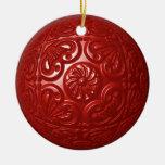 Afiligranado - rojo ornamento para reyes magos