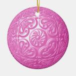 Afiligranado - rosa ornamento de navidad
