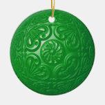 Afiligranado - verde ornamentos de navidad