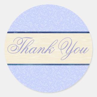 Afiligranados azules le agradecen pegatina/sello pegatina redonda