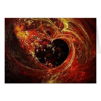 a'Fire del corazón Tarjeta De Felicitación