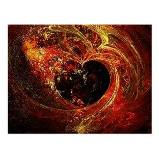a'Fire del corazón Postales