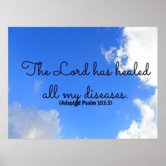 Afirmación curativa cristiana del salmo que el señ póster