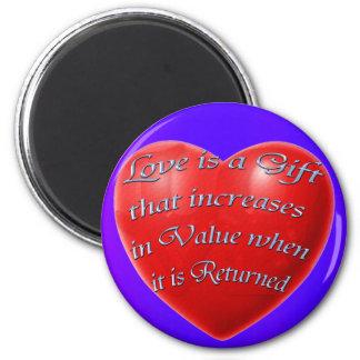 Afirmación positiva, imán del corazón del amor