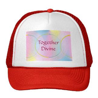 Afirmación positiva junto divina gorro
