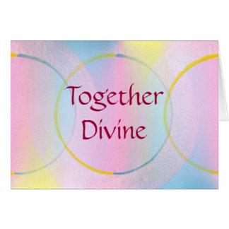 Afirmación positiva junto divina tarjeta de felicitación