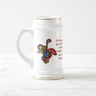 Afirmación Stein de cerámica del remolino de la ar Tazas De Café