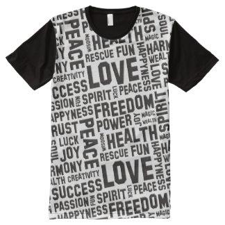 Afirmaciones del alcohol del NEGRO de la vida + su Camisetas Con Estampado Integral