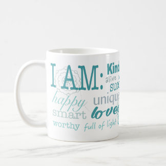 Afirmaciones diarias taza de café