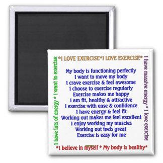 Afirmaciones positivas del ejercicio imán cuadrado