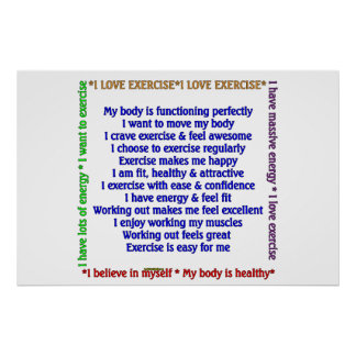 Afirmaciones positivas del ejercicio poster