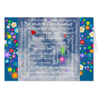 Afirmaciones positivas espirituales tarjeta de felicitación