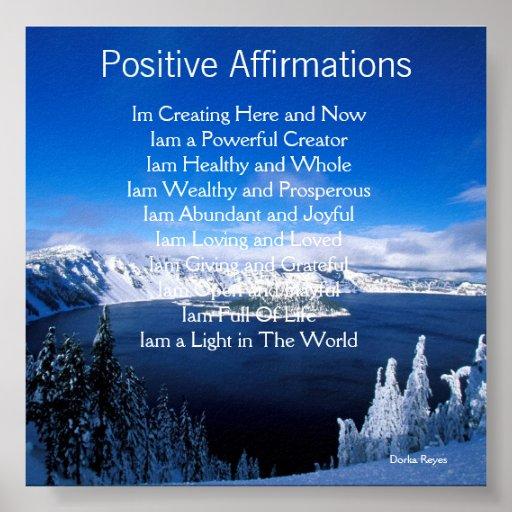 Afirmaciones positivas impresiones