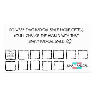 Afirmaciones radicales de la sonrisa tarjetas de visita