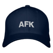 AFK Away From Keyboard Hat Embroidered Baseball Caps at Zazzle