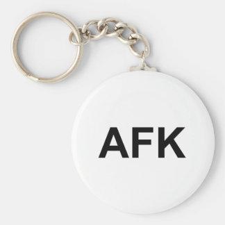 AFK BASIC ROUND BUTTON KEYCHAIN