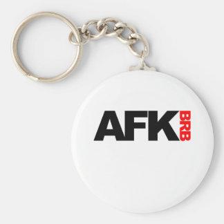 afk brb basic round button keychain