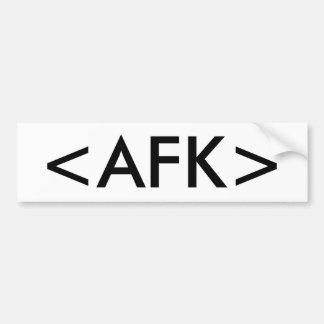 <AFK> PEGATINA PARA AUTO