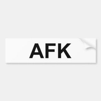 AFK ETIQUETA DE PARACHOQUE