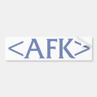 AFK CAR BUMPER STICKER