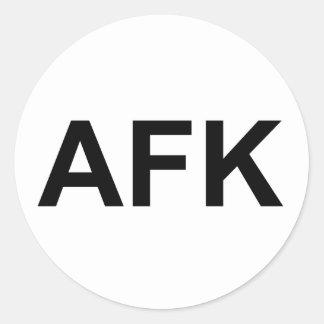 AFK ETIQUETA REDONDA