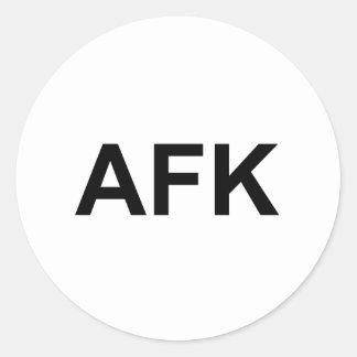 AFK PEGATINA REDONDA