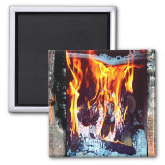 Aflame 2 Inch Square Magnet