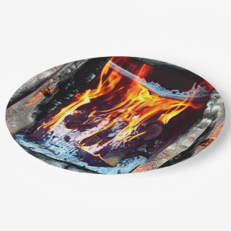 Aflame Paper Plate