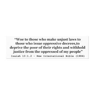 Aflicción a los que hacen el 10:1 injusto de Isaía Impresión En Lona